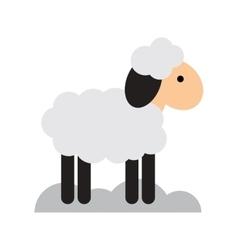 Flat icon with long shadow christmas lamb vector