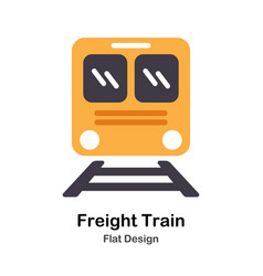 Freight train flat icon vector