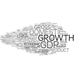 gdp word cloud concept vector image