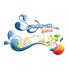 Happy Songkran Festival in Thailand vector image