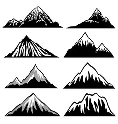 Highlands mountains silhouettes with snow vector