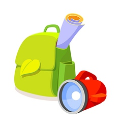 Icon bag and lamp vector