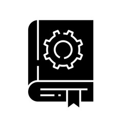 Instructions black icon concept vector