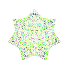 Isolated colorful abstract geometrical flower vector