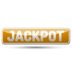 Jackpot - glossy banner with shadow vector