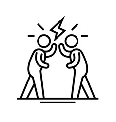 loud discussion line icon concept sign outline vector image