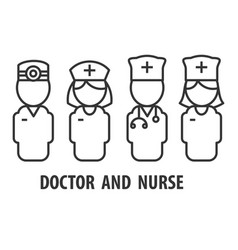 male doctor and nurse vector image