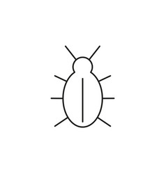 malware bug icon vector image