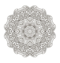 mandala pattern zentangl doodle drawing round vector image