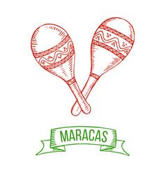 Maracas hand-drawing vector