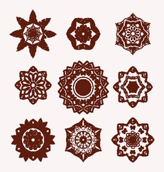 mehndi flowers tattoo doodle Henna Tattoo Design vector image