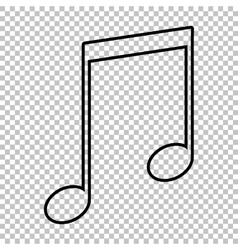 Music sign line icon vector