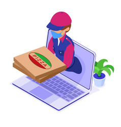 Online food order delivery service vector