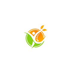 people ecology fitness logo vector image