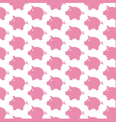 Piggy bank pattern background vector