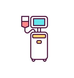 Platelet donation rgb color icon vector