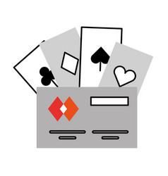 poker cards with credit card vector image