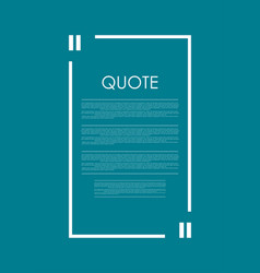 quote blank speech bubble abstract bright design vector image