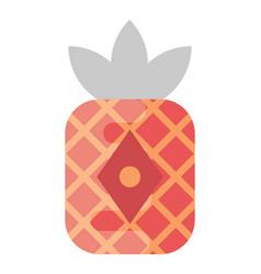 Red pineapple lantern vector