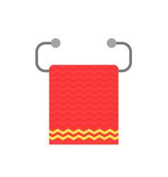red towel on metal holder vector image