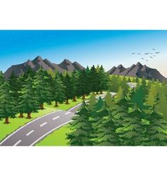 Road in beautiful nature vector