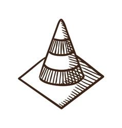Road traffic cone symbol vector image