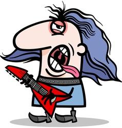 rockman musician cartoon vector image