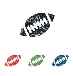 Rugby ball grunge icon set vector image