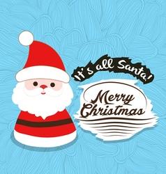 Santa merry christmas flower sketch background vector