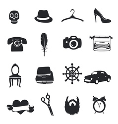 Set flom 12 unique pictograms vector image