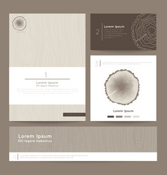 Set of corporate business card folder banner Eco vector