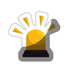 siren alarm isolated icon vector image
