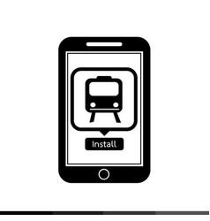 Smart phone mobile train application icon design vector