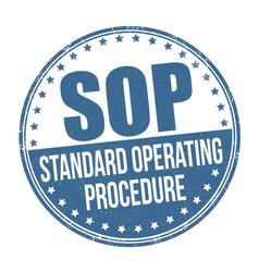 Sop standard operating procedure grunge rubber vector