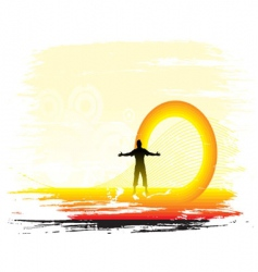sun set background vector image