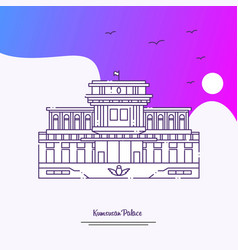 Travel kumsusan palace poster template purple vector