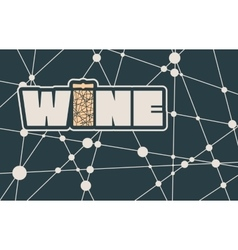 Typography concept for vineyard vector image vector image
