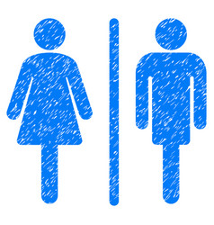 wc persons grunge icon vector image