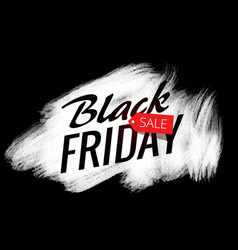 white paint stroke effect with black friday sale vector image