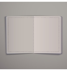 Blank open magazine or Book Mock Up Template vector image