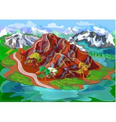 bright beautiful nature scenery template vector image
