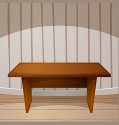 cartoon room wooden table vector image