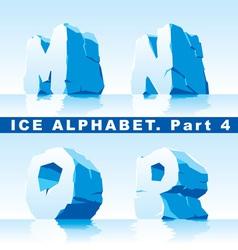 ice alpfabet part 4 vector image