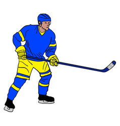ice hockey player vector image vector image