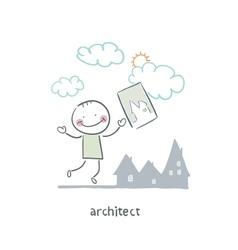 Architect vector image