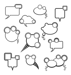 collection of comic bubbles vector image vector image