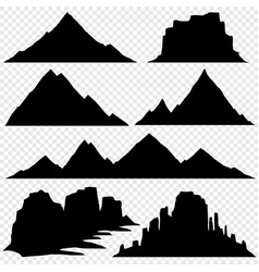 mountain silhouette skyline panoramic view vector image
