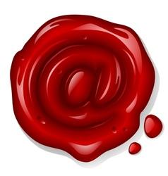 sealing wax mail sign vector image vector image