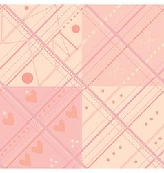 Seamless plaid pink pattern set vector image vector image