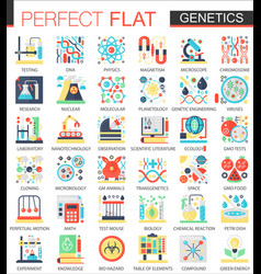 biochemistry biology genetics complex flat vector image vector image